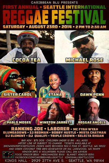 Seattle International Reggae Festival 2014