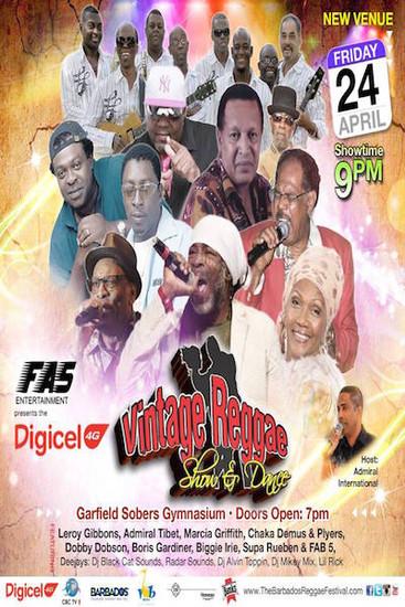 Barbados Vintage Reggae Show & Dance 2015