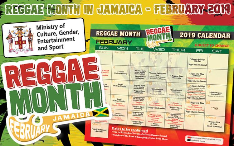 Reggae Month in Jamaica - February 2019
