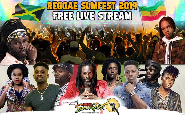 Free Live Stream - Buju Banton, Chronixx & Koffee @Reggae Sumfest 2019