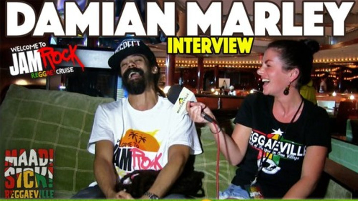 Interview With Damian Marley @ Welcome To Jamrock Reggae Cruise 2015 [12/3/2015]