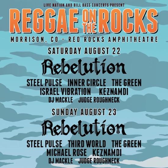 POSTPONED: Reggae On The Rocks 2020