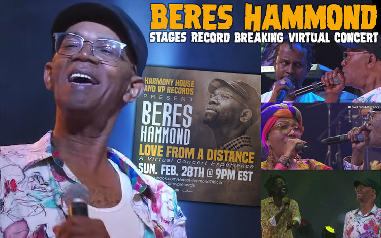 Beres Hammond Stages Record Breaking Virtual Concert