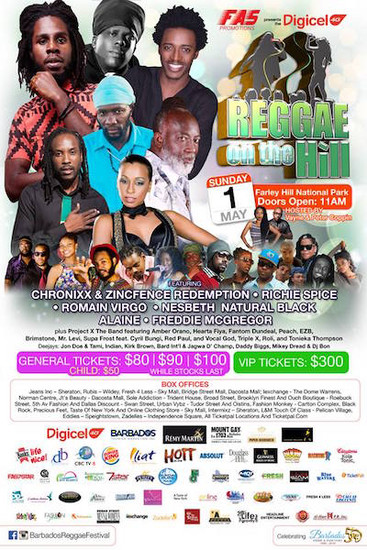 Barbados Reggae On The Hill 2016