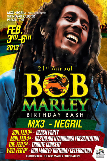 Bob Marley Birthday Bash 2013