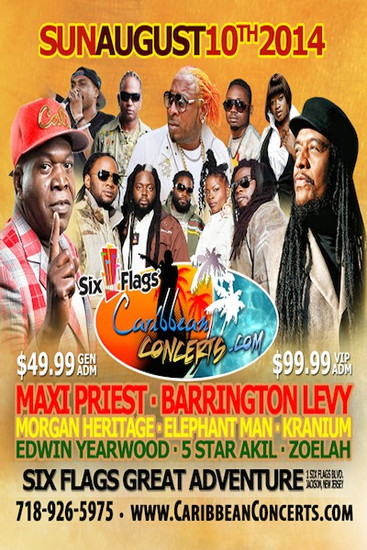 Six Flags Caribbean Concert 2014