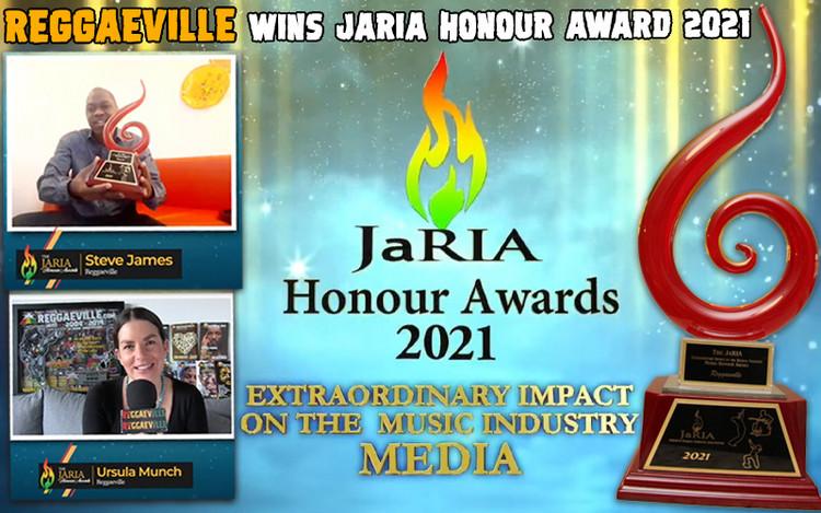 Reggaeville Wins JaRIA Honour Award 2021 - Extraordinary Impact on the Music Industry