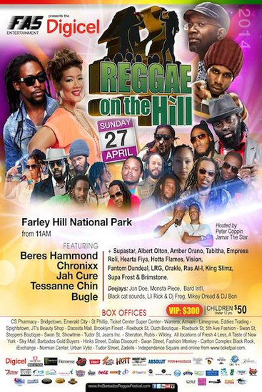 Barbados Reggae On The Hill 2014