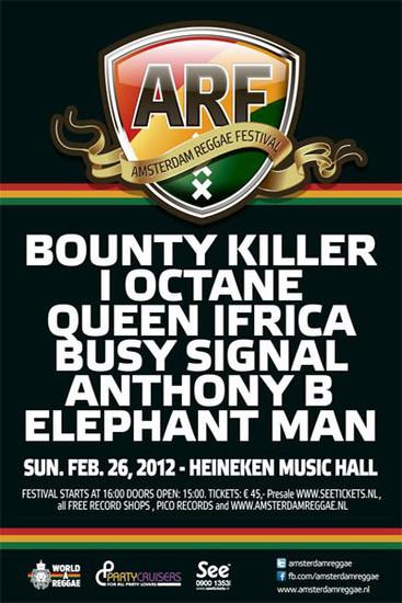Postponed: Amsterdam Reggae Festival 2012