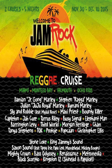 Welcome To Jamrock Reggae Cruise 2015 #1
