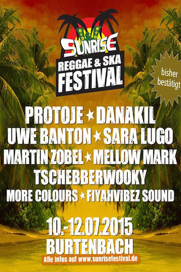 Sunrise Reggae & Ska Festival 2015
