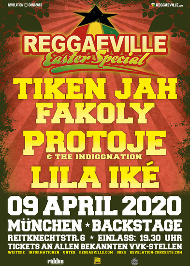 Cancelled: Reggaeville Easter Special - Munich 2020