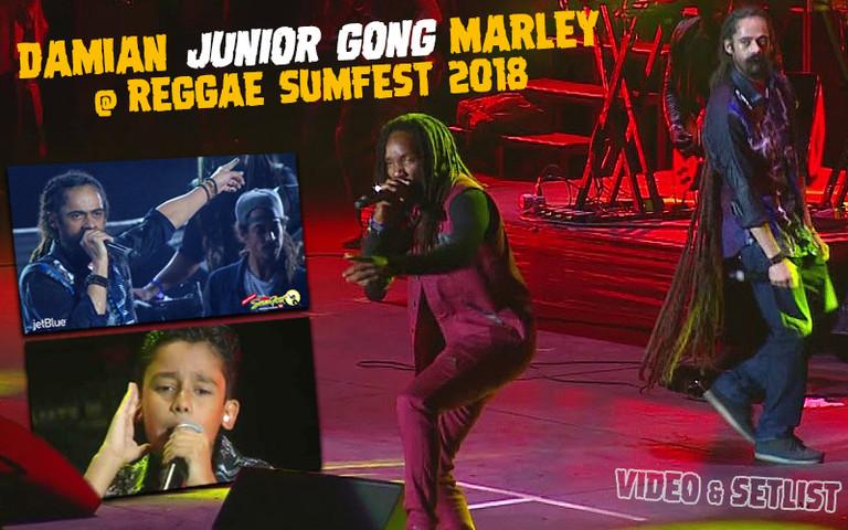 Video & Setlist: Damian Junior Gong Marley @ Reggae Sumfest 2018