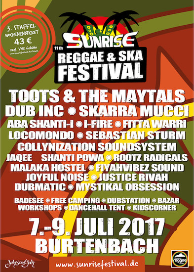 Sunrise Reggae & Ska Festival 2017