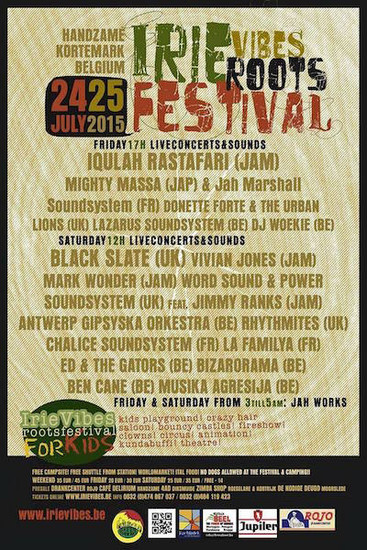 Irie Vibes Roots Festival 2015