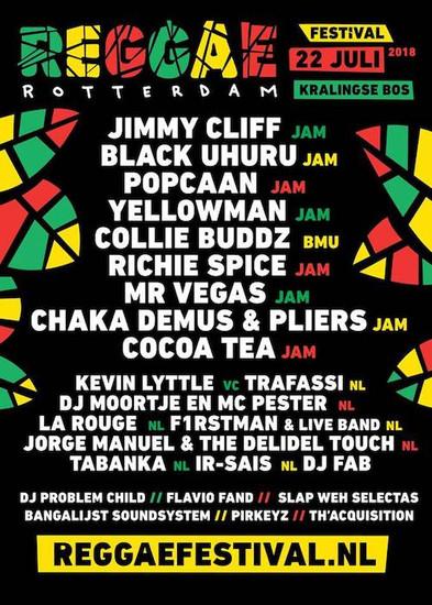 Reggae Rotterdam Festival 2018
