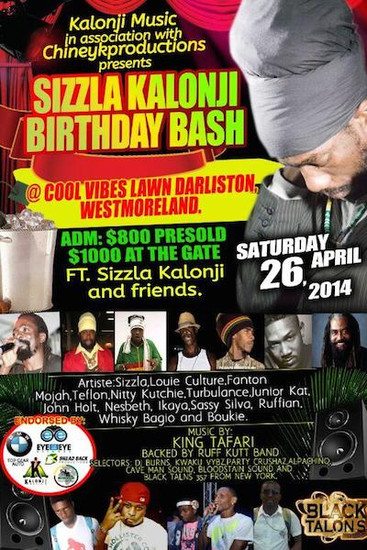 Sizzla Kalonji Birthday Bash 2014