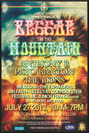 Reggae Pon The Mountain 2013