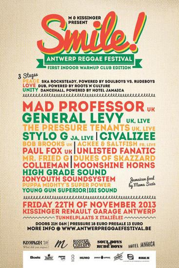 Smile - Antwerp Reggae Festival 2013
