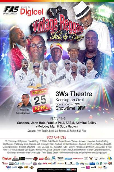 Barbados Vintage Reggae Show & Dance 2014