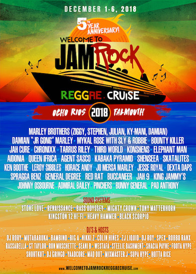 Welcome To Jamrock Reggae Cruise 2018