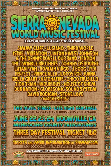 Sierra Nevada World Music Festival 2012