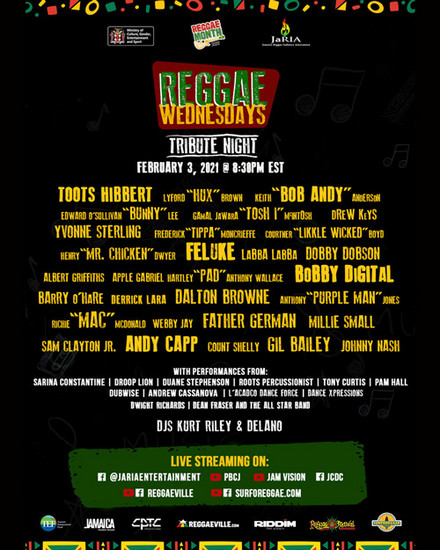 Reggae Wednesdays - Tribute Night 2021