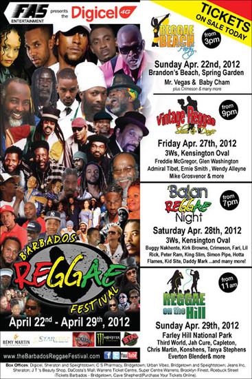 Barbados Reggae Festival 2012