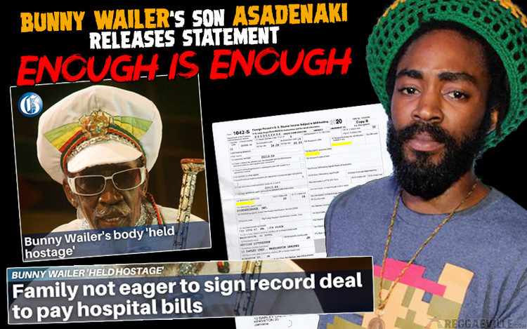 Enough is Enough - Bunny Wailer's Son Releases Statement