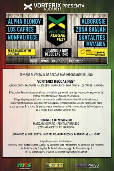 Vorterix Reggae Fest 2013