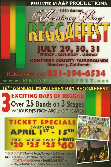 Monterey Bay Reggaefest 2011