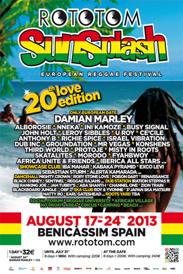 Rototom Sunsplash 2013