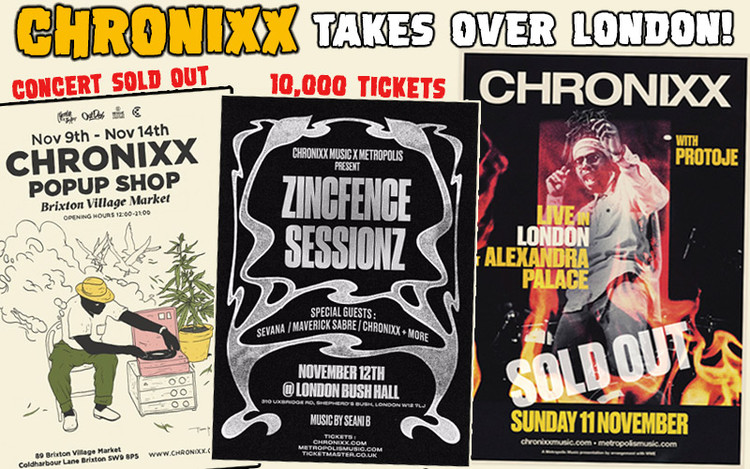 10,000 Tickets - Sold Out! Chronixx Takes Over London