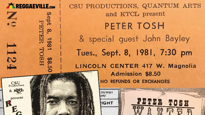 Peter Tosh - Live in Fort Collins, CO @Lincoln Center (Soundboard Bootleg) [9/8/1981]