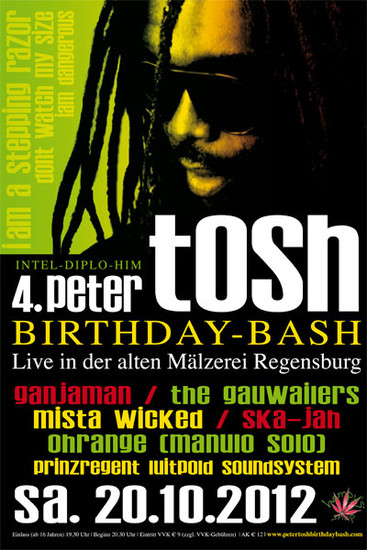 Peter Tosh Birthday-Bash 2012