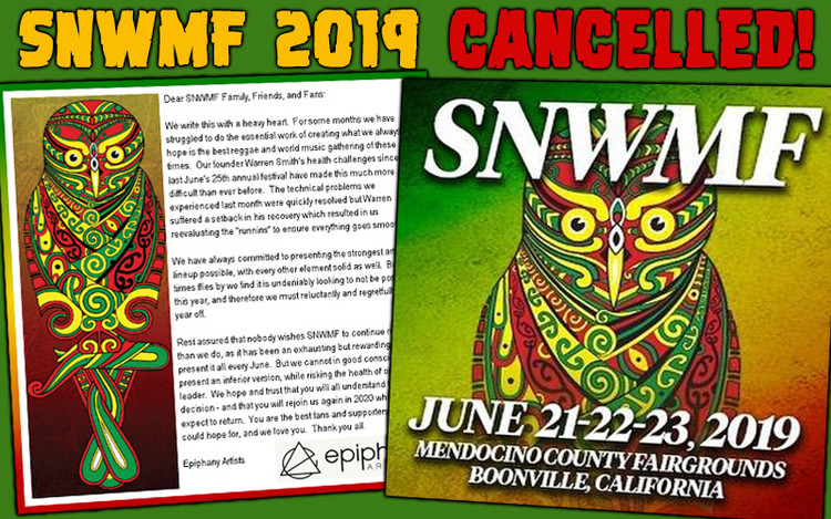 Sierra Nevada World Music Festival 2019 Cancelled!