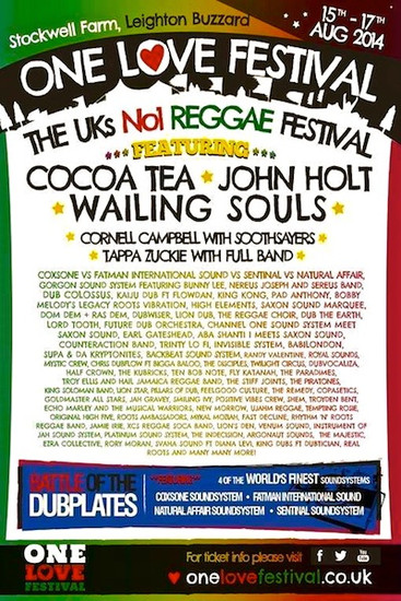 One Love Festival 2014
