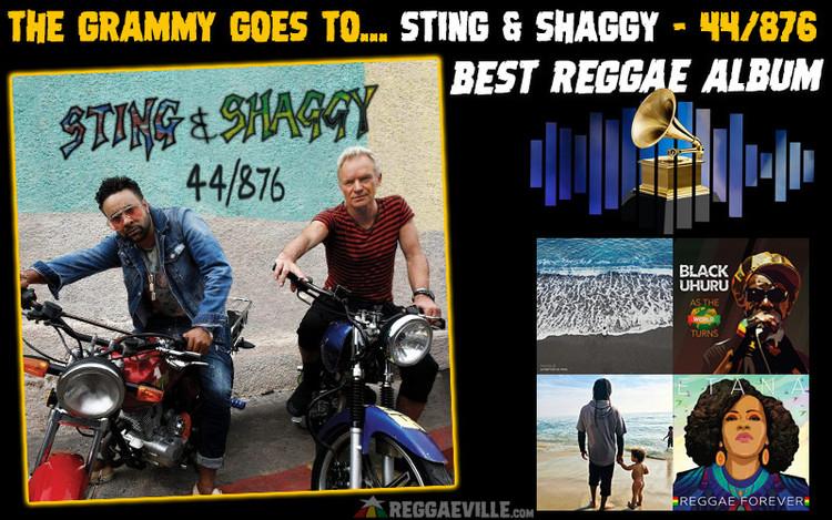 Grammy Award 'Best Reggae Album' Goes To Sting & Shaggy - 44/876