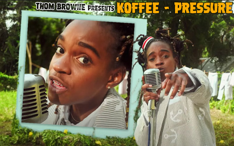 Koffee & Thom Browne Team up for Pressure Video
