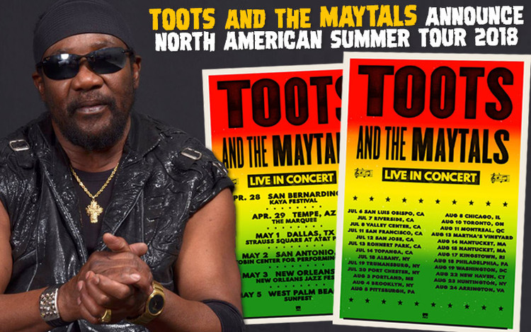 Toots and the Maytals Announce North American Summer Tour 2018