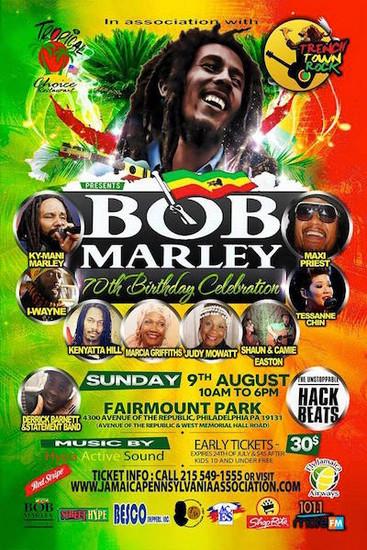 CANCELLED: Bob Marley 70th Birthday Celebration 2015