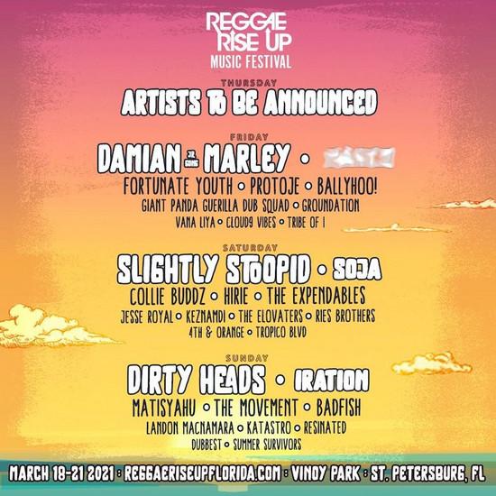 POSTPONED: Reggae Rise Up - Florida 2021
