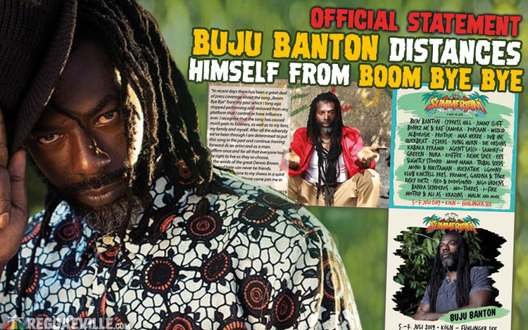 Buju Banton Distances Himself from Boom Bye Bye!