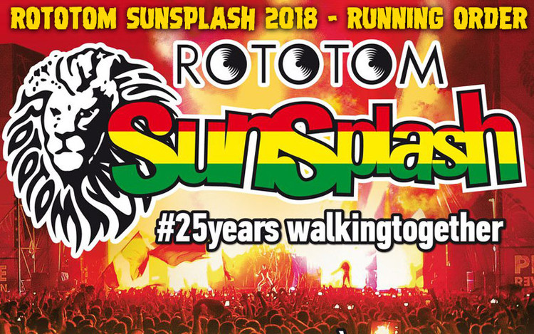 Rototom Sunsplash 2018 - Running Order & Live Stream