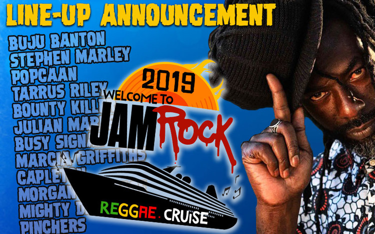 Buju Banton @ Welcome To Jamrock Reggae Cruise 2019 - Line-Up Revealed