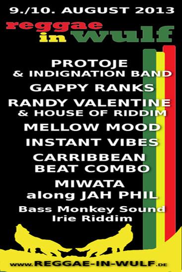Reggae In Wulf 2013
