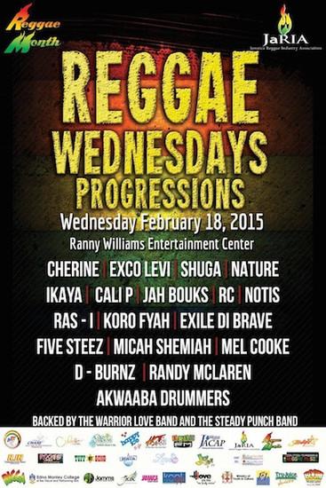 Reggae Wednesday - Progressions 2015