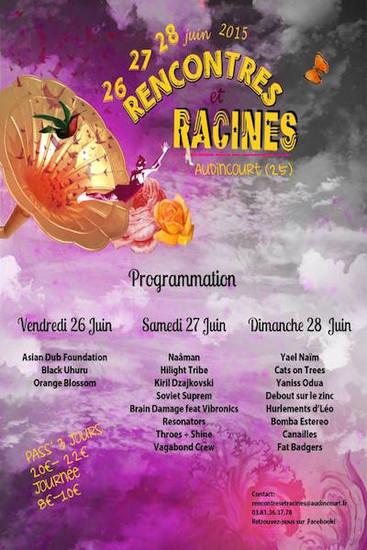 Rencontres et Racines 2015