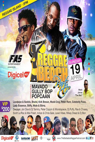 Barbados Reggae Beach Party 2015