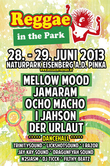 Reggae In The Park 2013